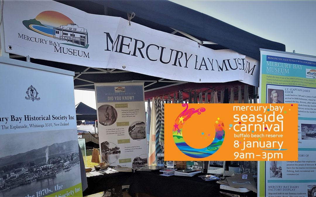Pop Up Museum at The Mercury Bay Seaside Summer Carnival